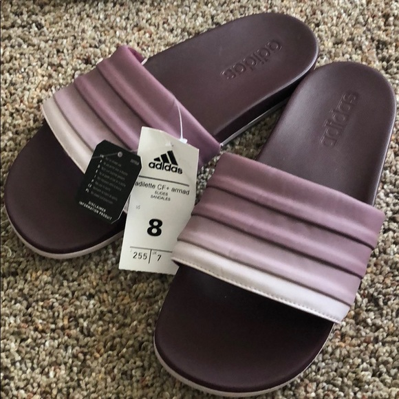 67613f6f56461 adidas Shoes - Adidas Women s Slides Sandals Size 8 Purple